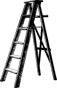 Tall stepladder